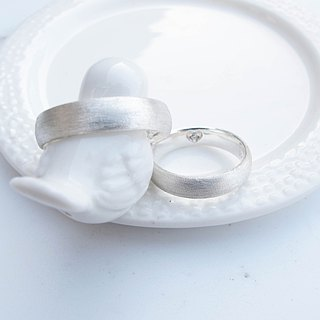 Big staff Taipa [couple ring] complete sterling silver ring (pair)