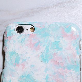 Ice Cream Series ll TiffanyBlue Pink ll Hand-painted oil painting phone case