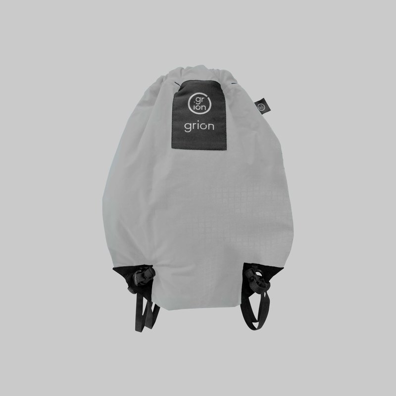 grion waterproof bag - back section (S) white