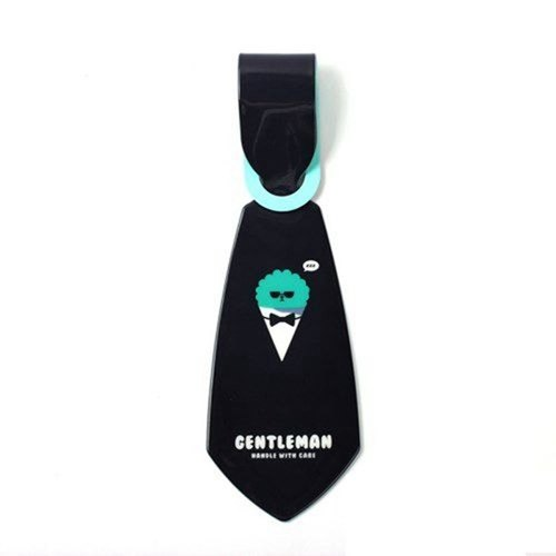 Elf tie luggage tag 03.Pompom- gentleman