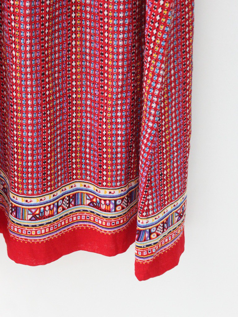 Vintage Red Totem Sleeveless Vintage Dress Vintage Dress