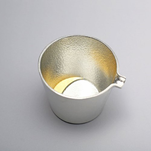 Pure Tin Gold Foil Crescent Moon Cup