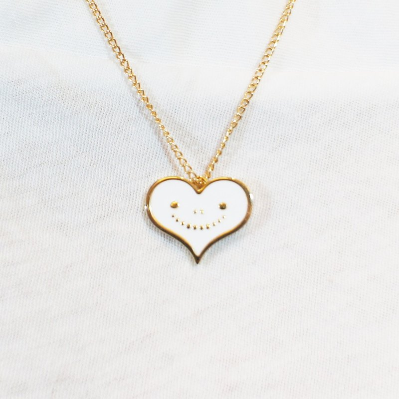 Dreams Handmade Jewelry Collection - White Metal Smile Love Necklace