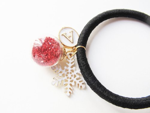 *Rosy Garden*Red planet pieces with custom made english letter hair band