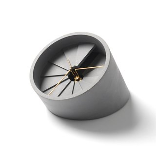 4th Dimension Table Clock (Gold/Grey)