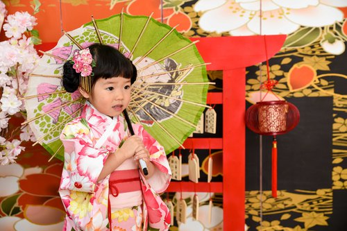Hand-made kimono Japanese-style lotus party birthday cosplay