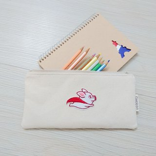 Pencil bag stationery denim pencil bag tool bag storage bag flying pig