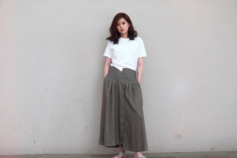 Calla High-Waisted Asymmetric Wide-Leg Pants
