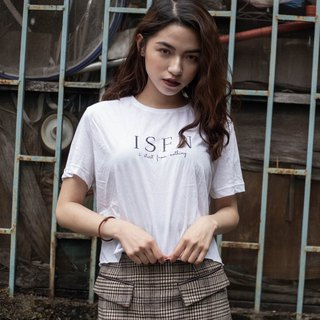 ISFN Logo crop top Short version Thin Tee