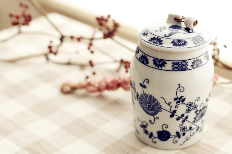 [Good day] fetish Netherlands VINTAGE ceramic pattern pickled pot