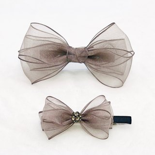 Romantic Chiffon Ribbon Bow Hair Clips Set