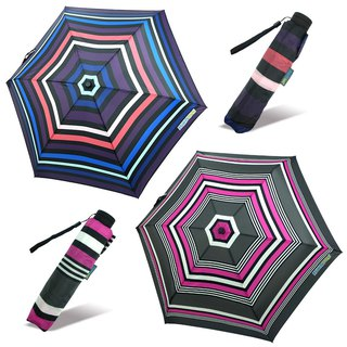 [Taiwan's Cultural and Creative Rain's talk] Color Stripe Anti-UV Tri-Fold Open Umbrella