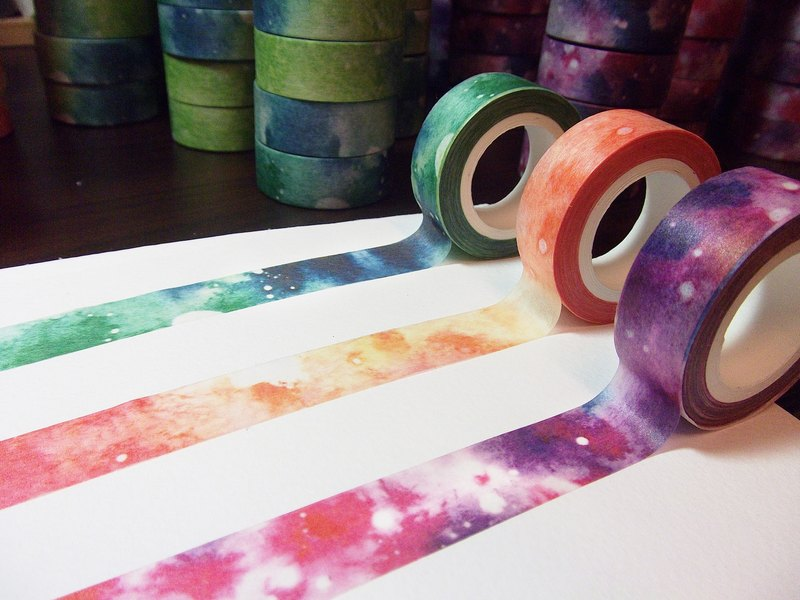 Watercolor paper tape gradient group (three)