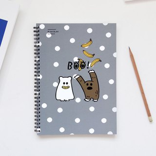 GMZ Naughty Ghost Ring B5 Notebook - Shuiyu ash, GMZ06924