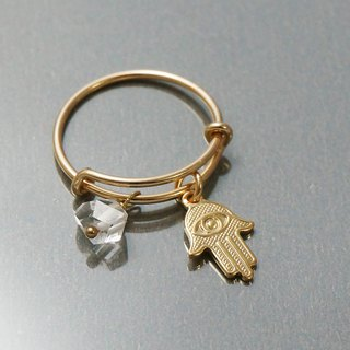 Fatima Seal Herkimont Gold Gold Adjustable Ring