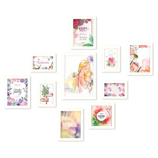 HomePlus Photoframe White 10PCS Girls Flowers Decor