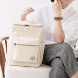 BUCKET BEAM BAG : WHITE CANVAS COLOR