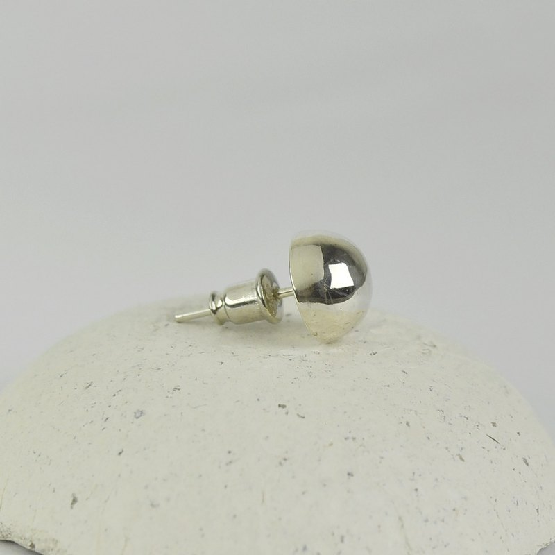 Sterling Silver Big Ball Stud Earring(One Single Earring)