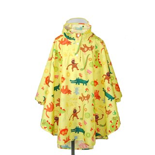 Waterproof breathable printed children raincoat <playful monkey>