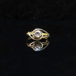 Winwing wire braided rings - [heart] diamond ring. Commemorative ring. Valentine's Ring