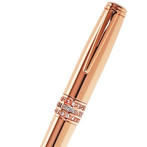 ARTEX GRIES long version of atomic pen white crystal/rose gold