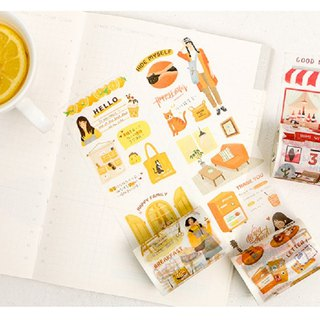 Oxygen diary series and paper tape hand book album diary DIY decorative stickers 8 into