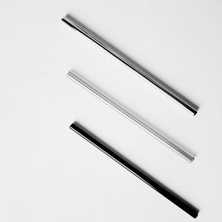 Black glass straw stainless steel straight straw