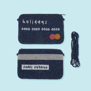Bead embroiery Holidays Credit Card Handmade Handbag