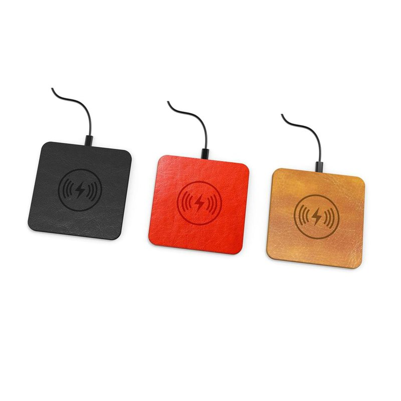【Jeway】CUBE Square Leather Wireless Charging Disk