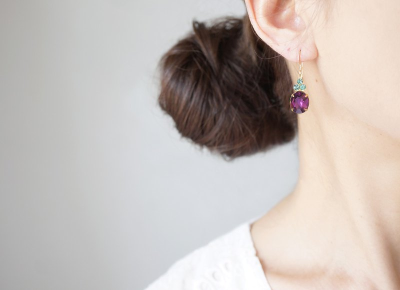 【14KGF】 Rock Candy/Amethyst & Erinite