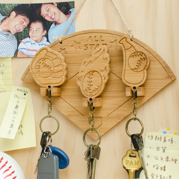 [Christmas gift] baseball family / key ring hanging version