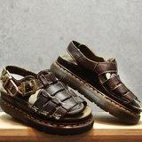 Tsubasa.Y 古著屋 深棕色 002馬汀涼鞋,Dr.Martens England