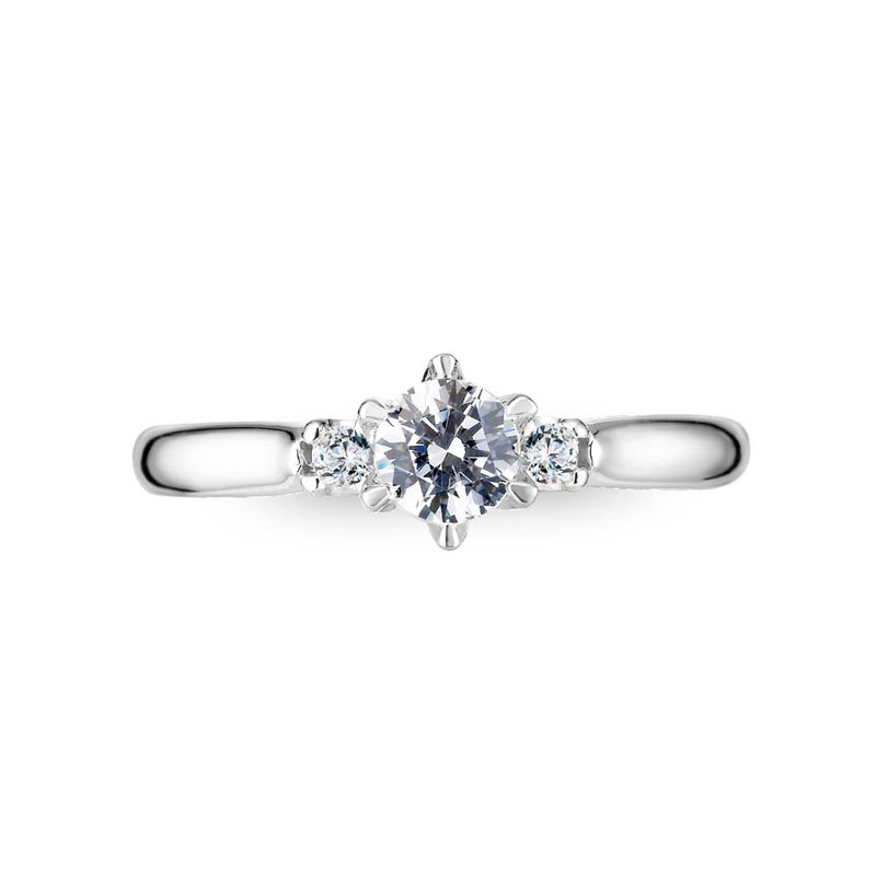 :: Free lettering :: Protection proposal diamond ring-Platinum (Platinum) / 30 points diamond