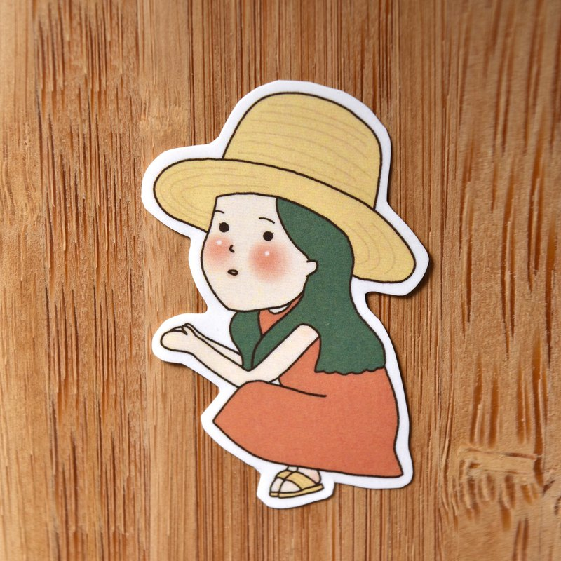 Maple girl / A section / single sticker