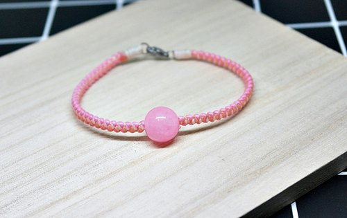 Thai silk wax line X natural stone _ pink circus / / can choose color / /