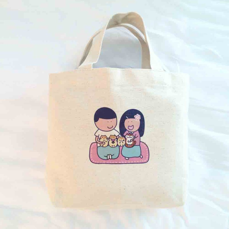 Gua's Daily Canvas Tote Bag (Lunch Bag) Handmade Canvas bag