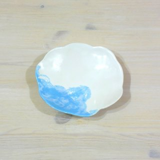 Cloud plate (small flower) _ ceramic tableware