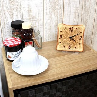 Toast clock / Imitation food table clock / made in Japan / RealGift /