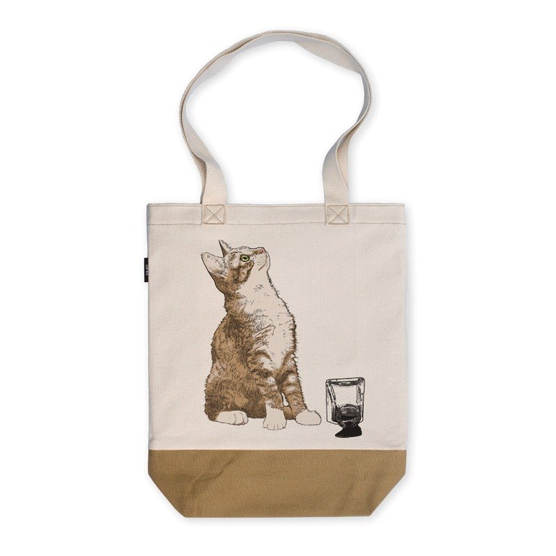 AMO where the original system hit the color of a single shoulder oblique cross-style canvas bag canvas bag / Arco / knock the ink of the cat