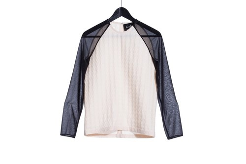 16 autumn and winter sale 16AW three-dimensional textured Houndstones Granville sleeve shirt contrast color sleeves