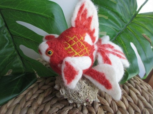Wool felt goldfish liquid money
