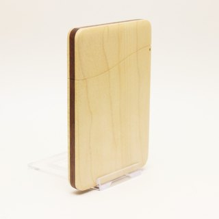 Slim name-card holder Maple and Walnut