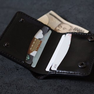 [Cottage a field] Italy imports the first layer of leather handmade small wallet card holder
