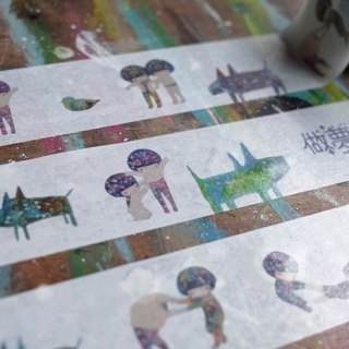 Dream place - paper tape - cosmic girl B | Horizontal