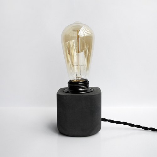 HALF Dark metal concrete lamp / tablelamp / desk lamp