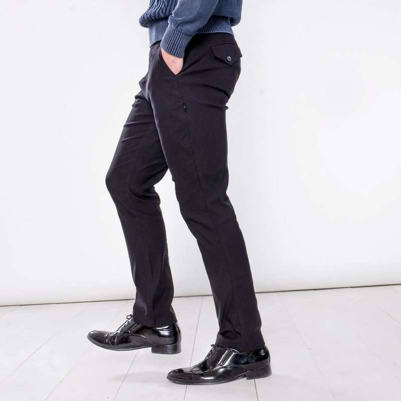 MH001 Manton's ultimate black eight pocket business travel gentleman's pants MANHATTAN BLACK 8 POCKETS