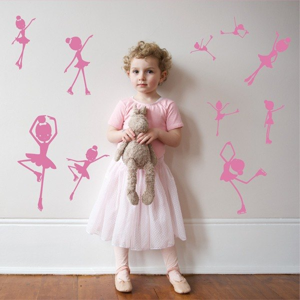 Smart Design Seamless wall stickers creative skating ◆ to 8 color options