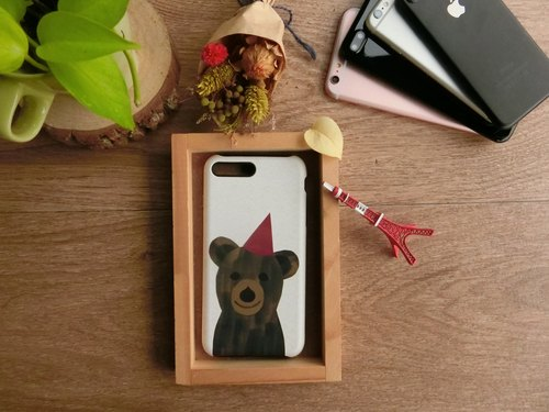 """PARTY BEAR Bear"" / exclusive high-grade double anti-scratch DROP BUMPER CASE [APPLE iPhone full range / Samsung NOTE.S Series / LG G Series]"