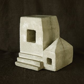 Ruins Concrete Bookend (house)