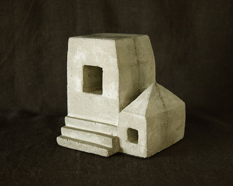Free Shipping - Ruins Concrete Bookend (house)